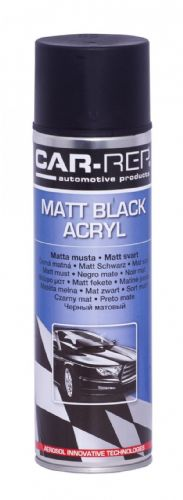 BLACK MATT Rubber-comp Rubber Paint Spray Film Removable Plastic dip 400ml